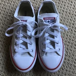 Kid's White Converse Size 2